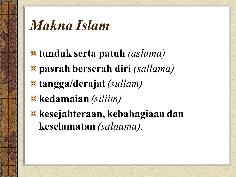 Sasaran Hukum Islam Penyucian Jiwa: agar manusia menjadi sumber kebaikan Menegakkan Keadilan Dalam Masyarakat Mewujudkan Kemashlahatan Manusia disebut juga Maqashidus Syariah (Tujuan Syariah) yang meliputi pemeliharaan terhadap: agama, jiwa, harta, akal dan keturunan
