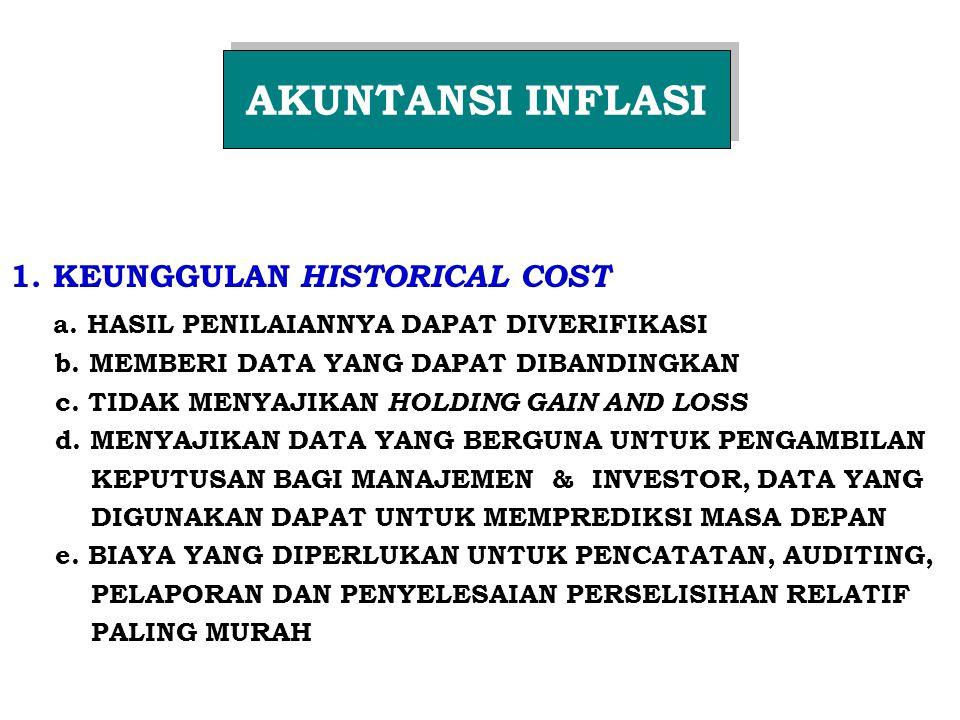 1.KEUNGGULAN HISTORICAL COST a. HASIL PENILAIANNYA DAPAT DIVERIFIKASI b.