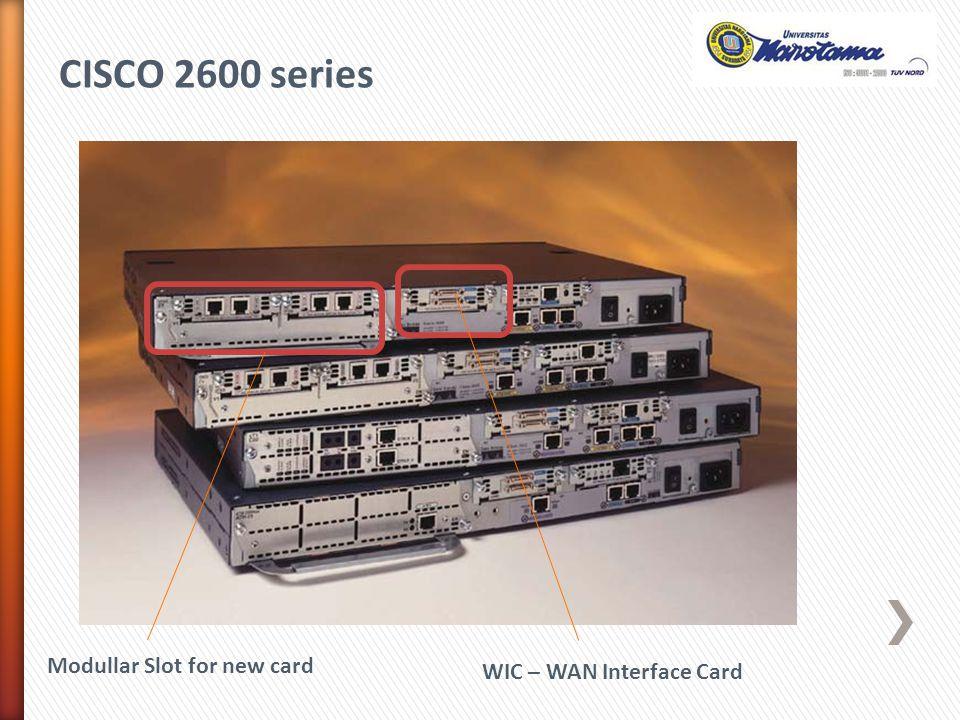 Modullar Slot for new card WIC – WAN Interface Card CISCO 2600 series