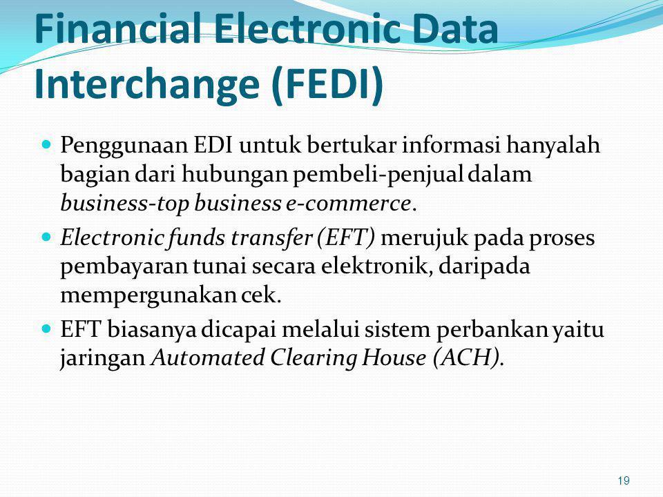 Financial Electronic Data Interchange (FEDI) Penggunaan EDI untuk bertukar informasi hanyalah bagian dari hubungan pembeli-penjual dalam business-top