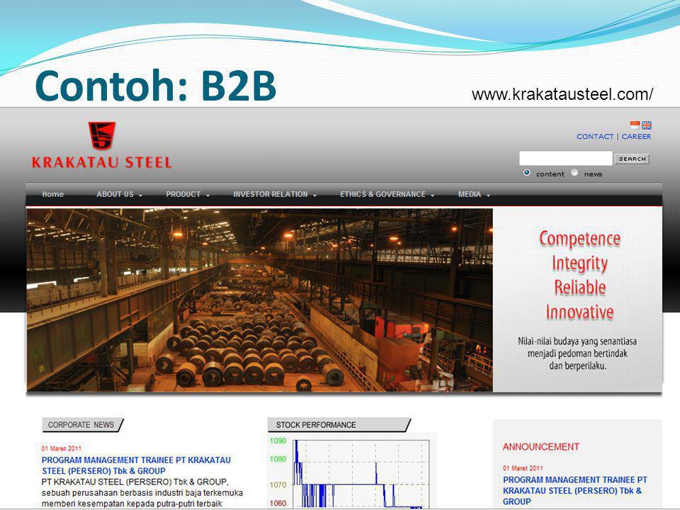 Contoh: B2B 7 www.krakatausteel.com/
