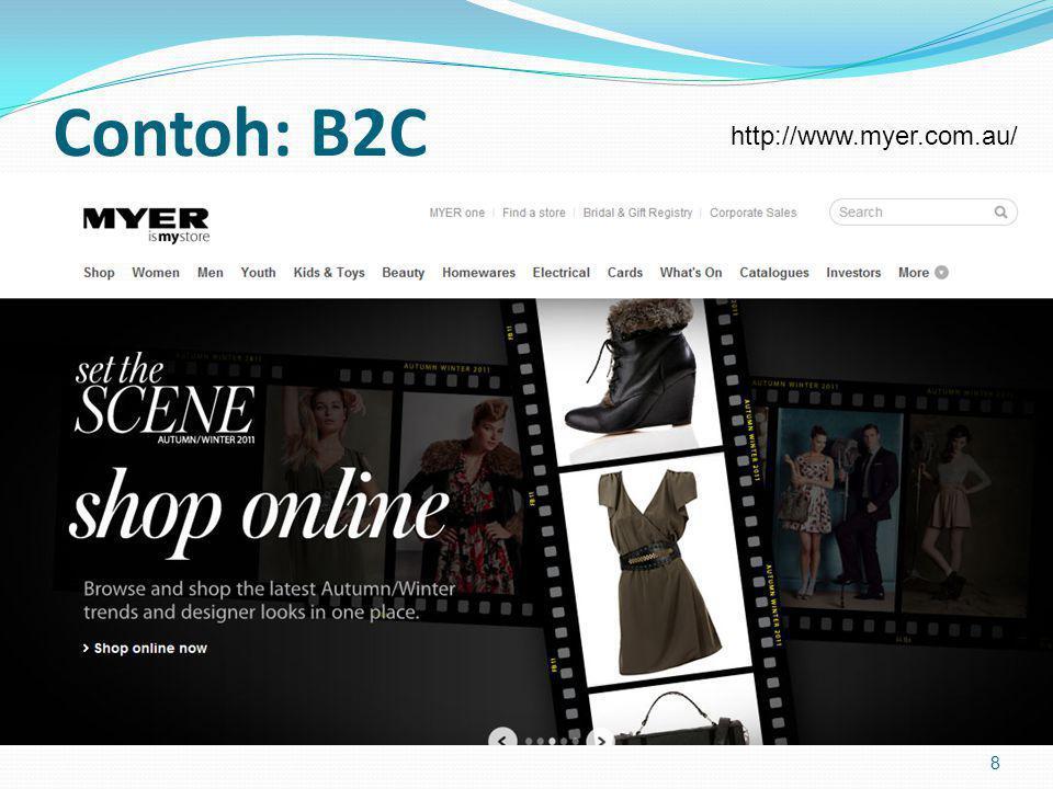 Contoh: B2C 8 http://www.myer.com.au/
