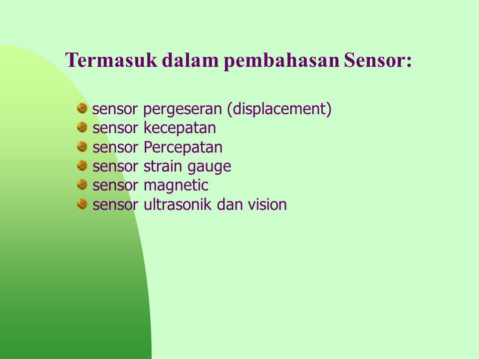 Termasuk dalam pembahasan Sensor: sensor pergeseran (displacement) sensor kecepatan sensor Percepatan sensor strain gauge sensor magnetic sensor ultra