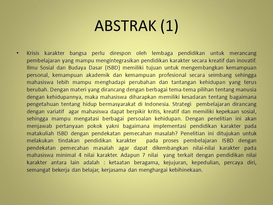 ABSTRAK (2) Penelitian menggunakan Action Research yang dilakukan dengan dua siklus.