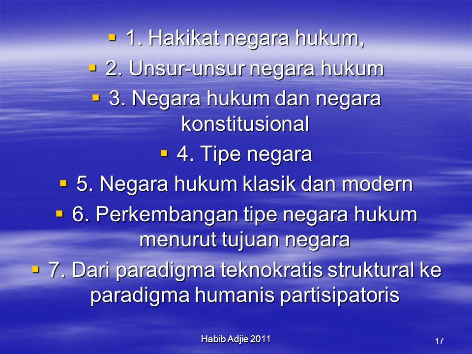 Habib Adjie 2011 17  1.Hakikat negara hukum,  2.