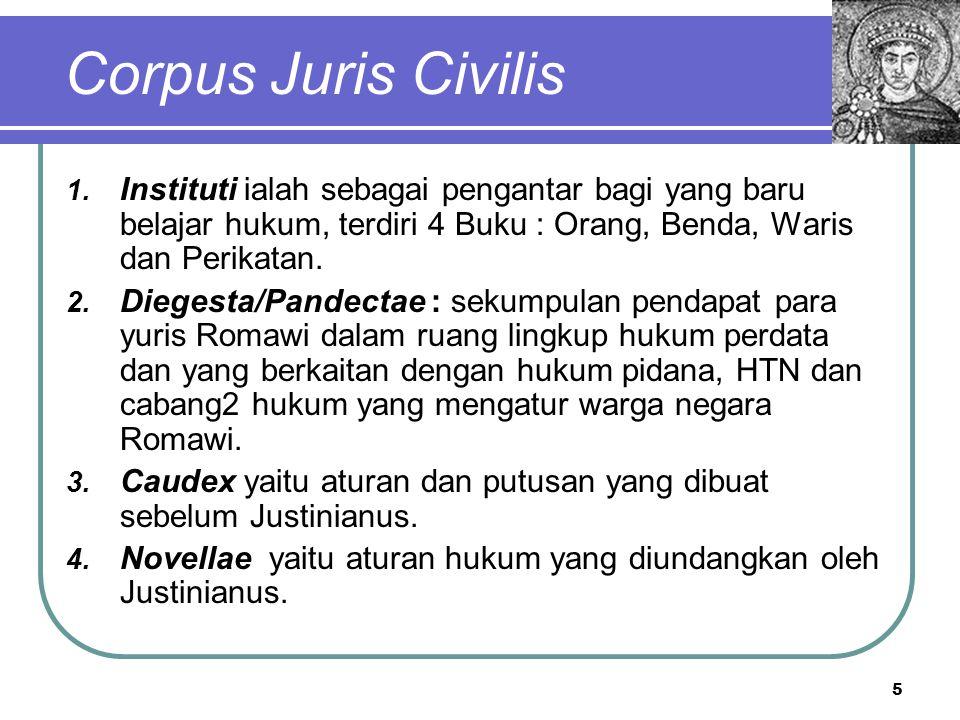 Dua Bagian Civil Law System  Hukum Publik a.Hukum Tata Negara b.