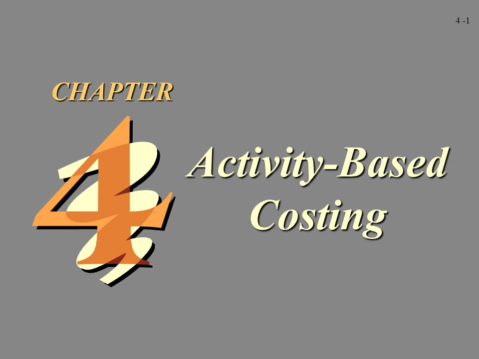 4 -42 Facility-level activities adalah aktivitas yang menopang proses umum suatu pabrik.