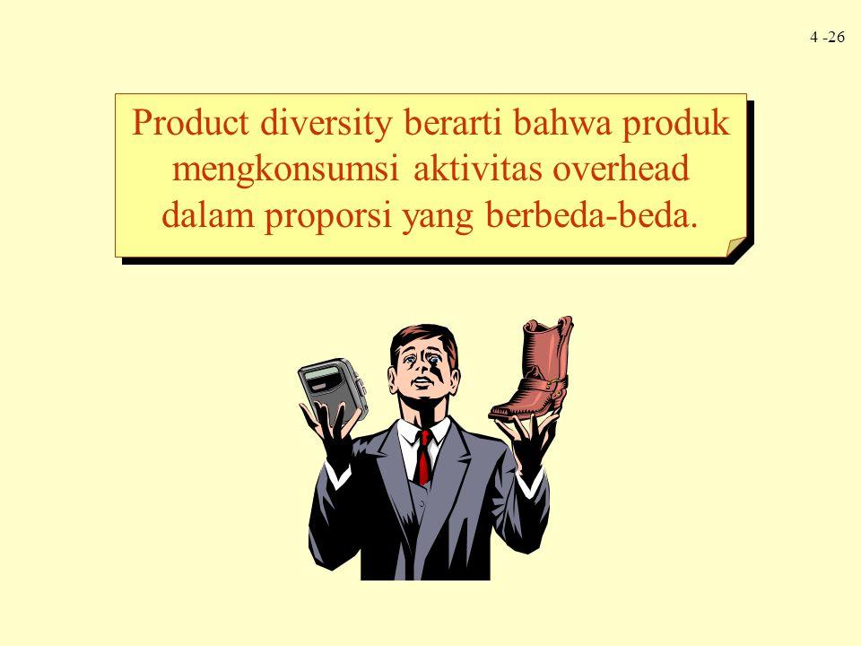 4 -26 Product diversity berarti bahwa produk mengkonsumsi aktivitas overhead dalam proporsi yang berbeda-beda.
