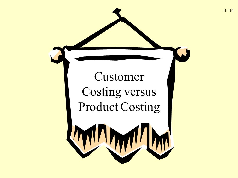 4 -44 Customer Costing versus Product Costing