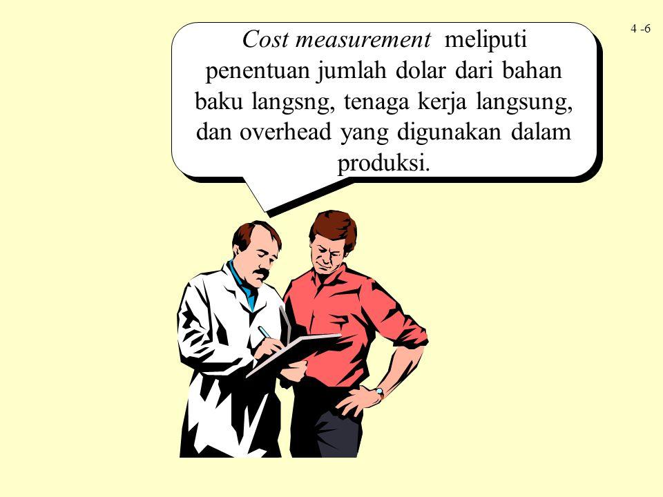 4 -7 Proses menghubungkan biaya, setelah diukur, dengan unit yang diproduksi disebut cost assignment.