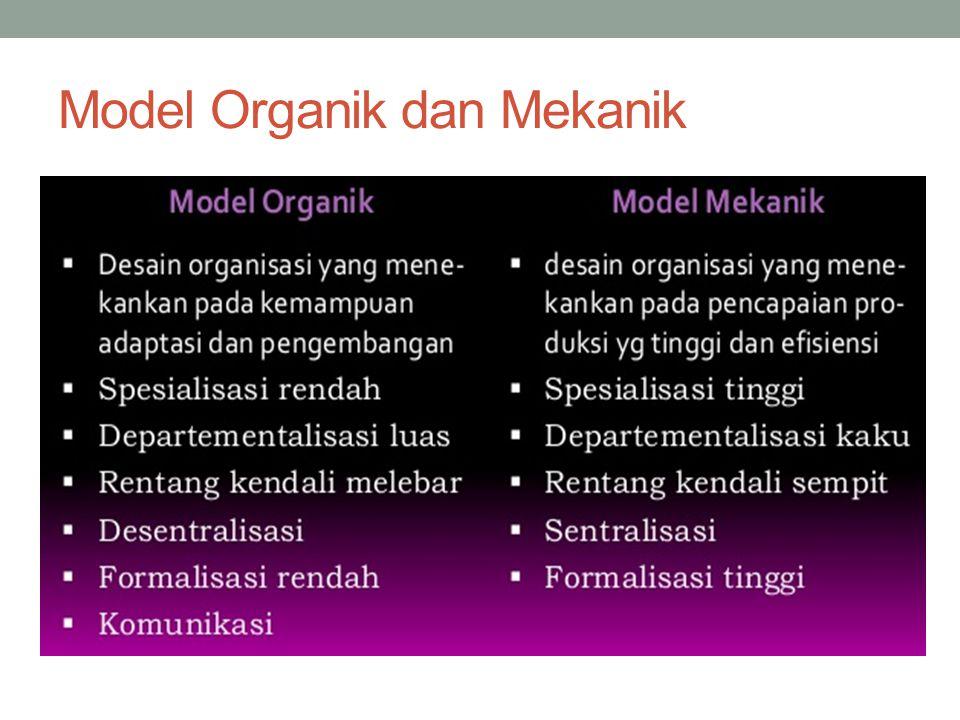 Model Organik dan Mekanik