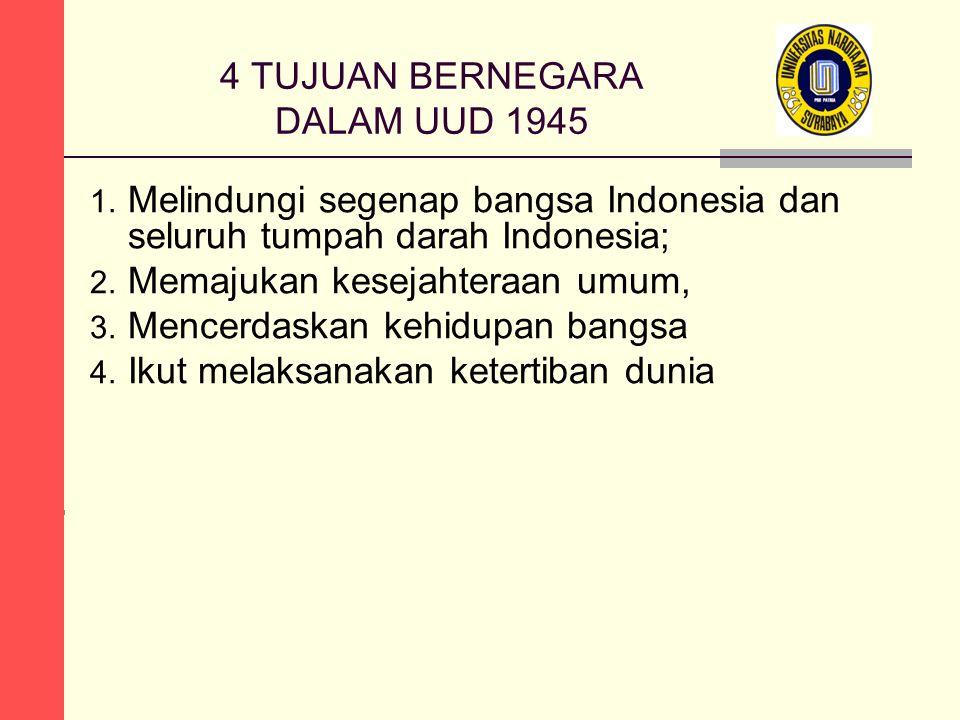 4 TUJUAN BERNEGARA DALAM UUD 1945 1.