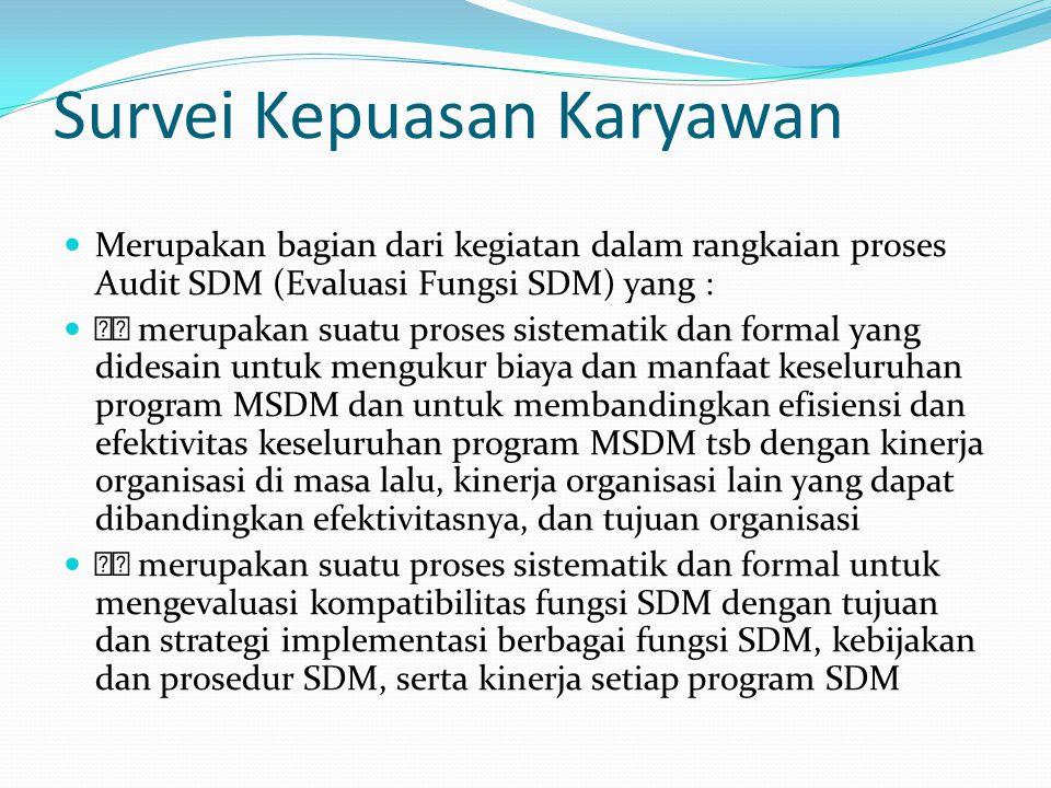 Tujuan Audit SDM untuk membantu MSDM memberikan kontribusi yang signifikan terhadap tujuan-tujuan organisasi untuk menciptakan nilai (value) sehingga organisasi bertanggung jawab secara sosial, etikal, dan kompetitif untuk mendapatkan umpan balik (feedback) dari para karyawan dan manajer operasi dalam hal yang berkaitan dengan efektivitas MSDM untuk memperbaiki fungsi MSDM dengan menyediakan sarana untuk membuat keputusan ketika akan mengurangi dan menambah kegiatan- kegiatan SDM