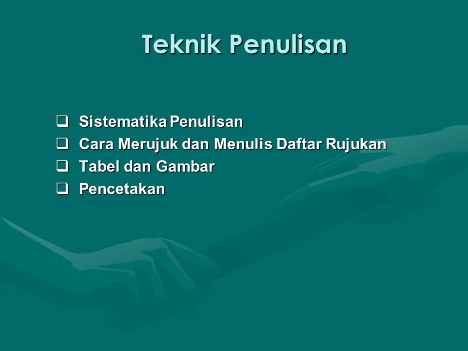 Cara Merujuk dan Menulis Daftar Rujukan (cont.) Perujukan dengan Catatan Kaki Contoh: Contoh: 3 Amat Mukhadis, 1996.