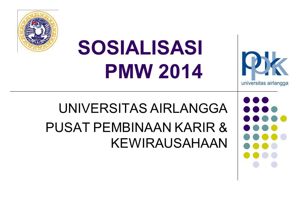 SOSIALISASI PMW 2014 UNIVERSITAS AIRLANGGA PUSAT PEMBINAAN KARIR & KEWIRAUSAHAAN