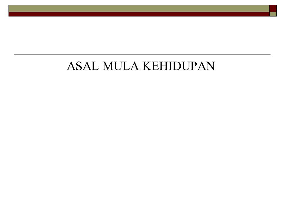 ASAL MULA KEHIDUPAN