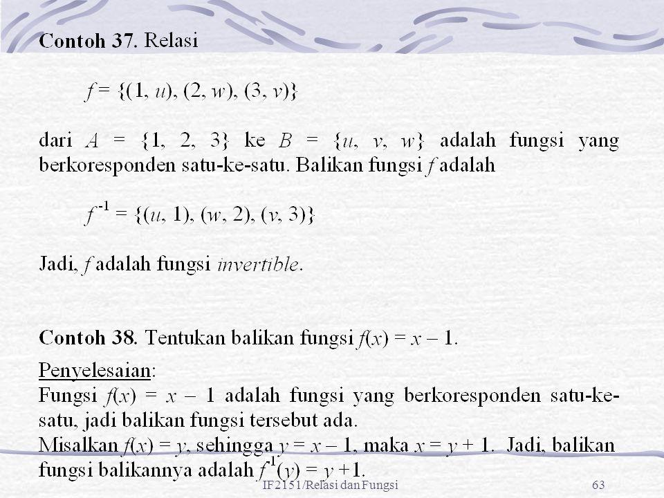 IF2151/Relasi dan Fungsi63