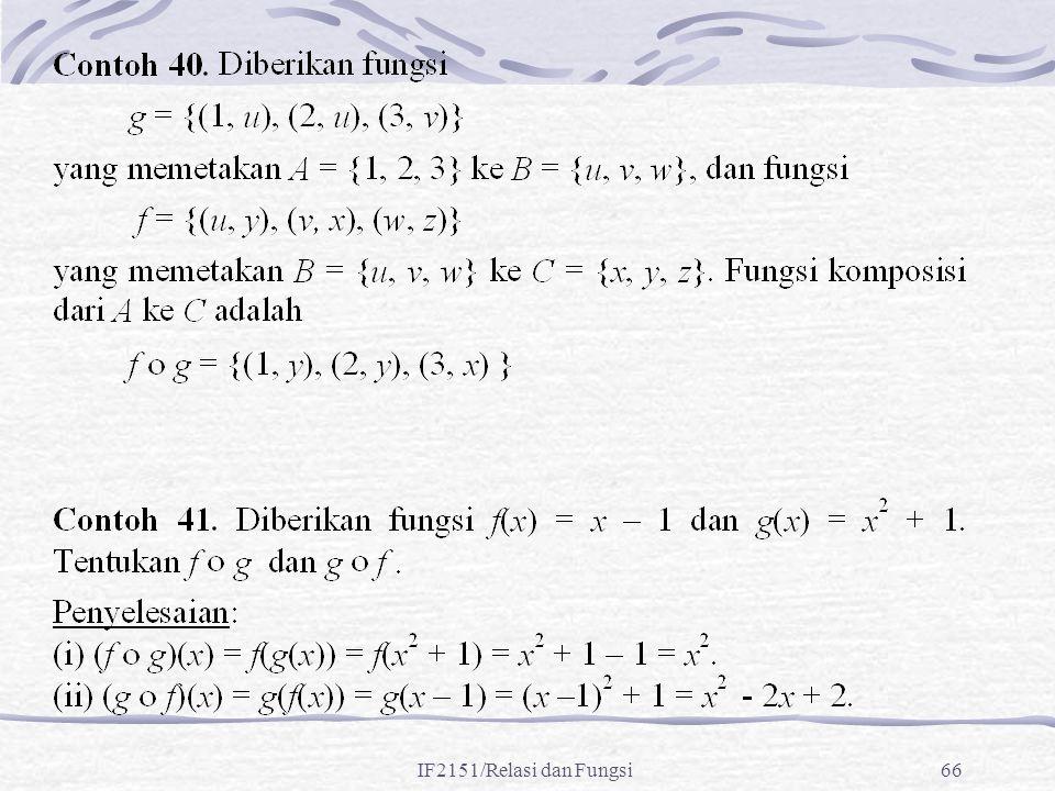 IF2151/Relasi dan Fungsi66