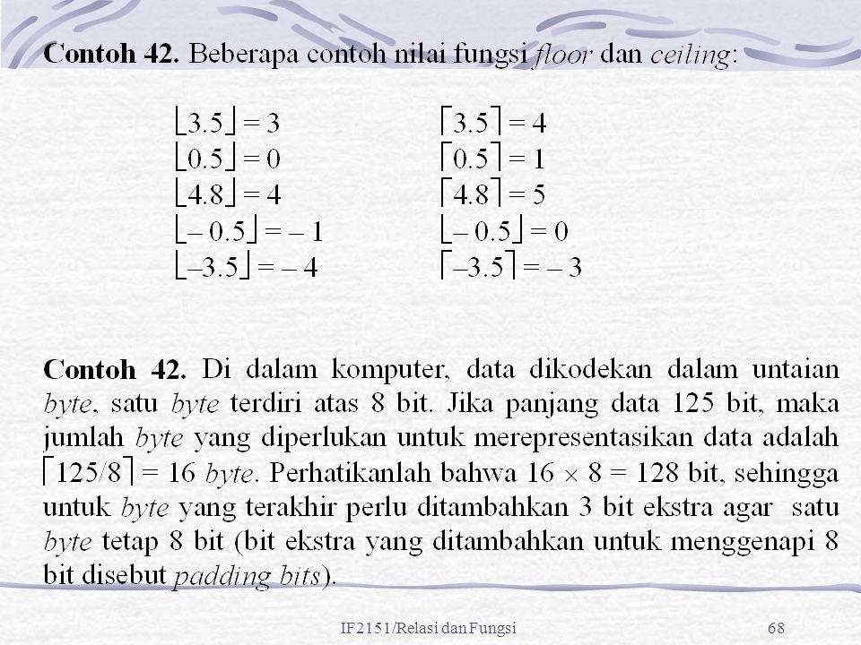 IF2151/Relasi dan Fungsi68