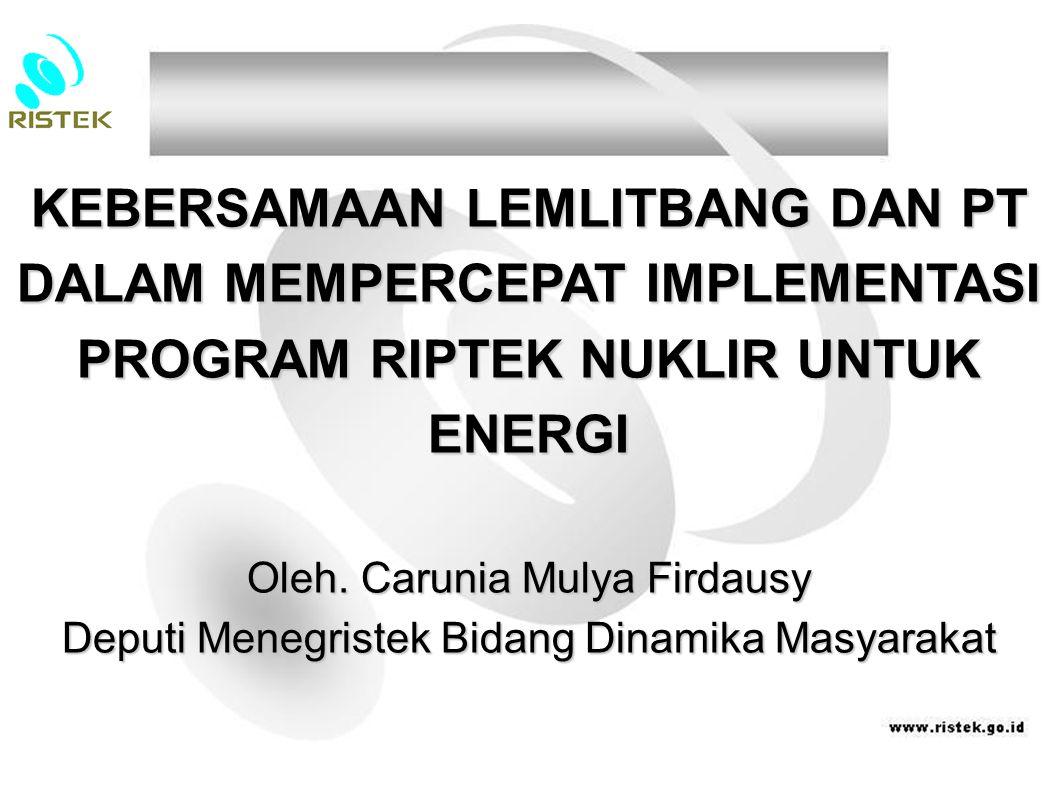 Kelima, merumuskan kebijakan insentif dan disinsentif bagi kedua institusi dalam melakukan kegiatan litbang secara sinergis.