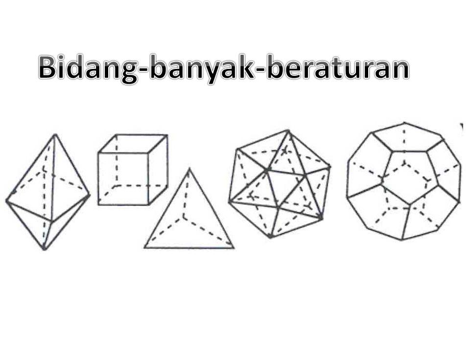 Pada, bidang  memotong setiap permukaan dari suatu sudut- polihedral, dan tidak memuat titik V. Perpotongan suatu bidang dengan suatu sudut-polihedra