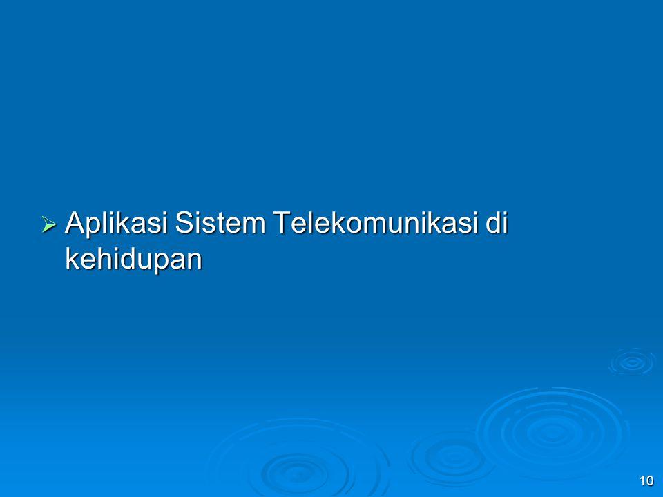  Aplikasi Sistem Telekomunikasi di kehidupan 10