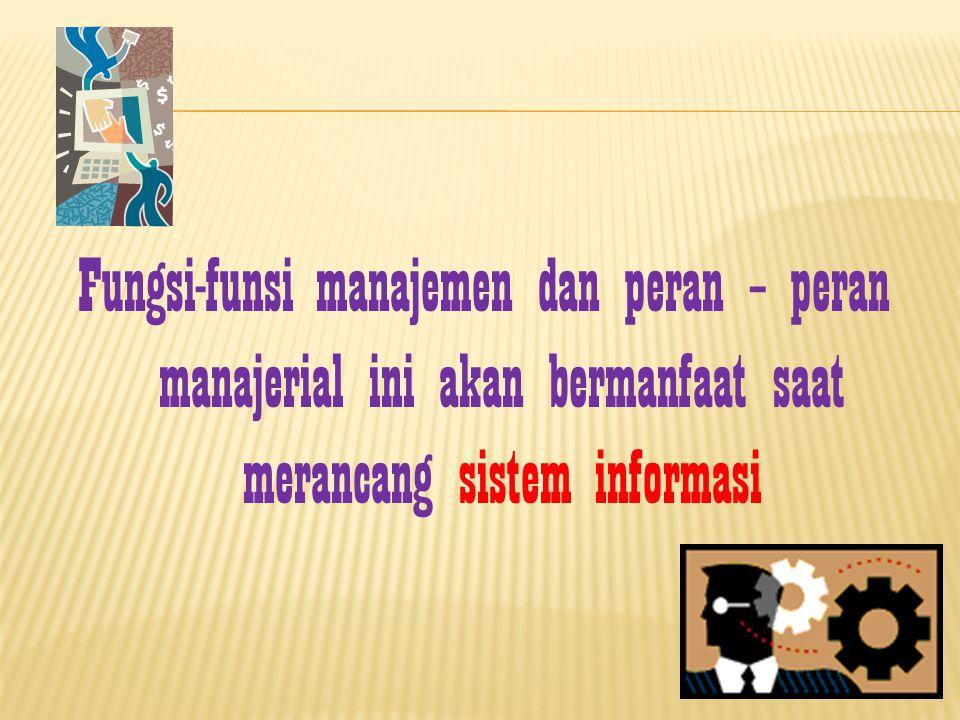 I nter – personal - Figure-head (tugas seremonial) - Leader (melatih, motivasi, mempekerjakan) - Liaison (menjalin hubungan) Informational - Monitor (