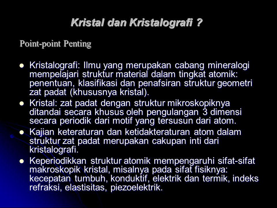 Kristal dan Kristalografi .
