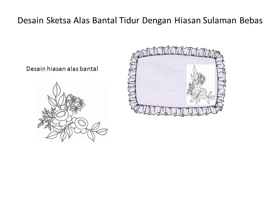 Desain Sketsa Alas Bantal Tidur Dengan Hiasan Sulaman Bebas Desain hiasan alas bantal