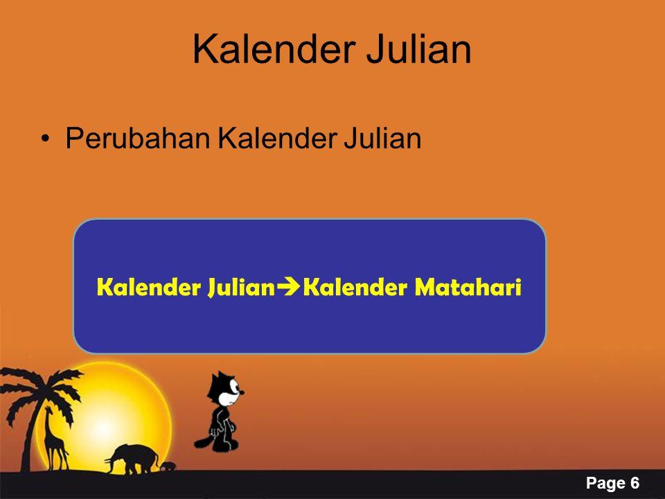 Page 6 Kalender Julian Perubahan Kalender Julian Kalender Julian  Kalender Matahari