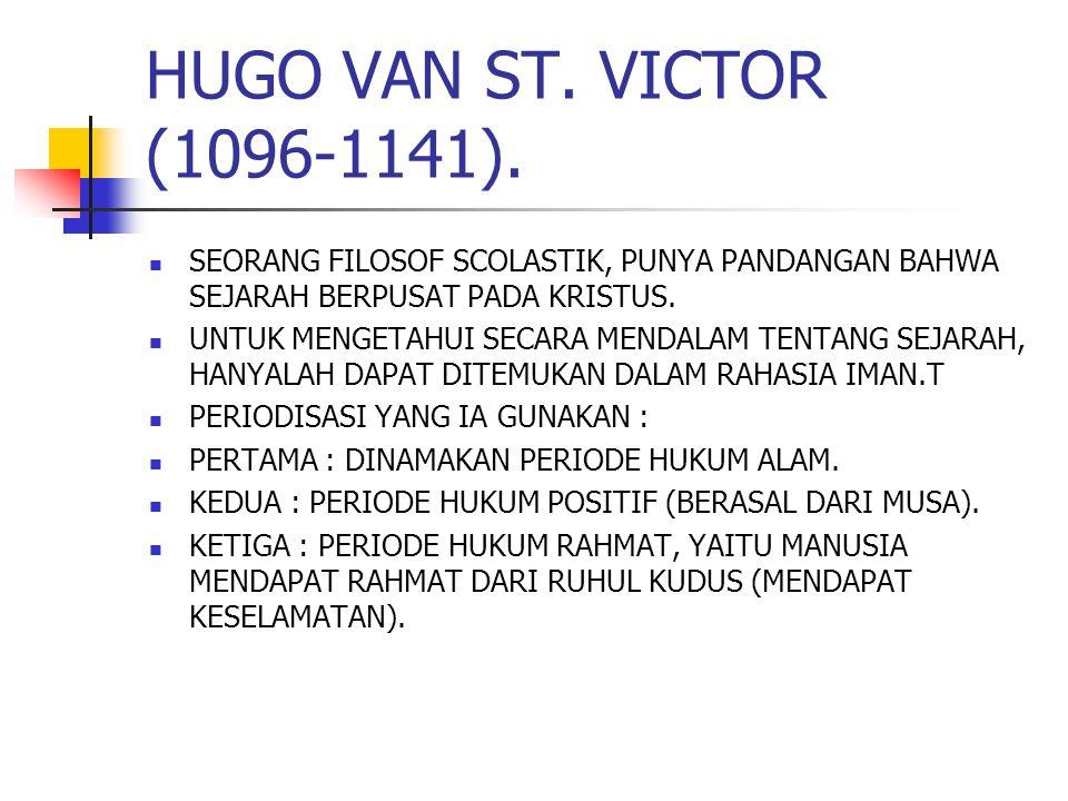 HUGO VAN ST.VICTOR (1096-1141).