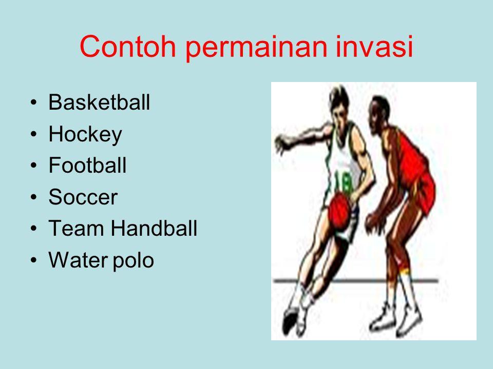 Contoh permainan invasi Basketball Hockey Football Soccer Team Handball Water polo