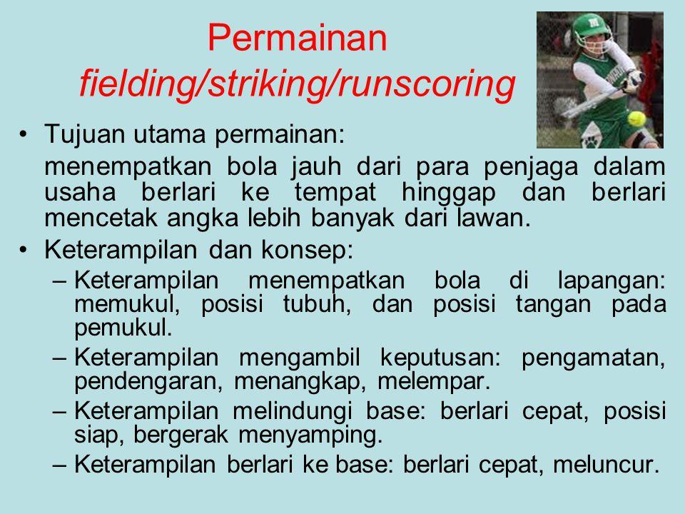 Permainan fielding/striking/runscoring Tujuan utama permainan: menempatkan bola jauh dari para penjaga dalam usaha berlari ke tempat hinggap dan berla
