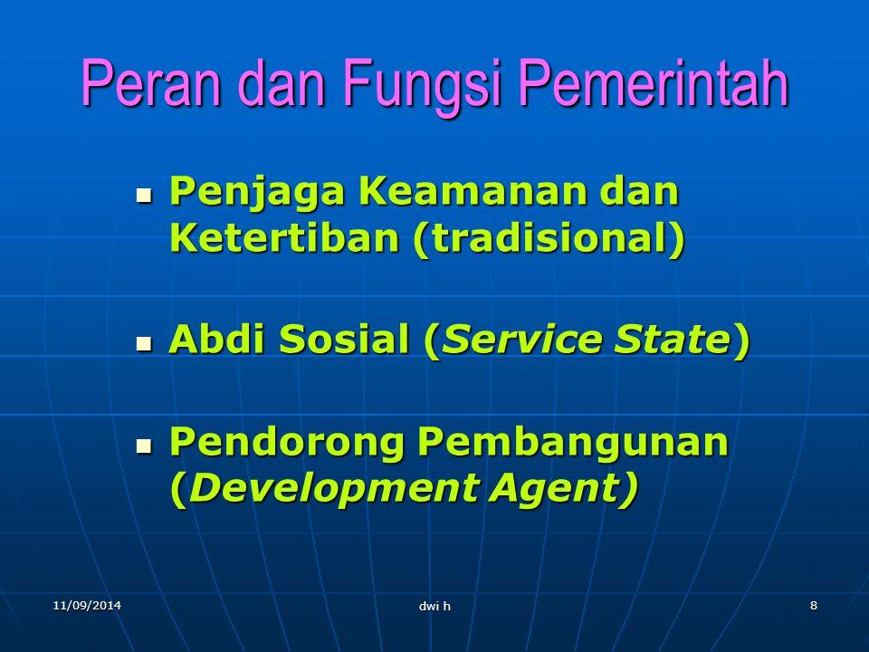11/09/2014 dwi h 7 Ciri-Ciri Administrasi Negara 1.Administrasi negara adalah suatu kegiatan yang tidak bisa dihindari (unavoidable) 2.Administrasi ne