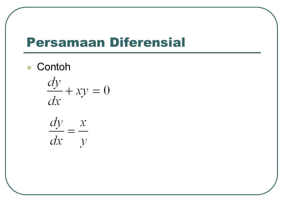 Persamaan Diferensial Contoh
