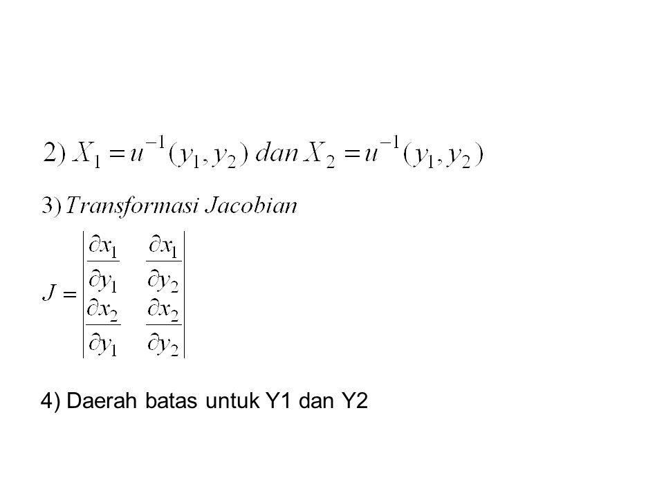 4) Daerah batas untuk Y1 dan Y2