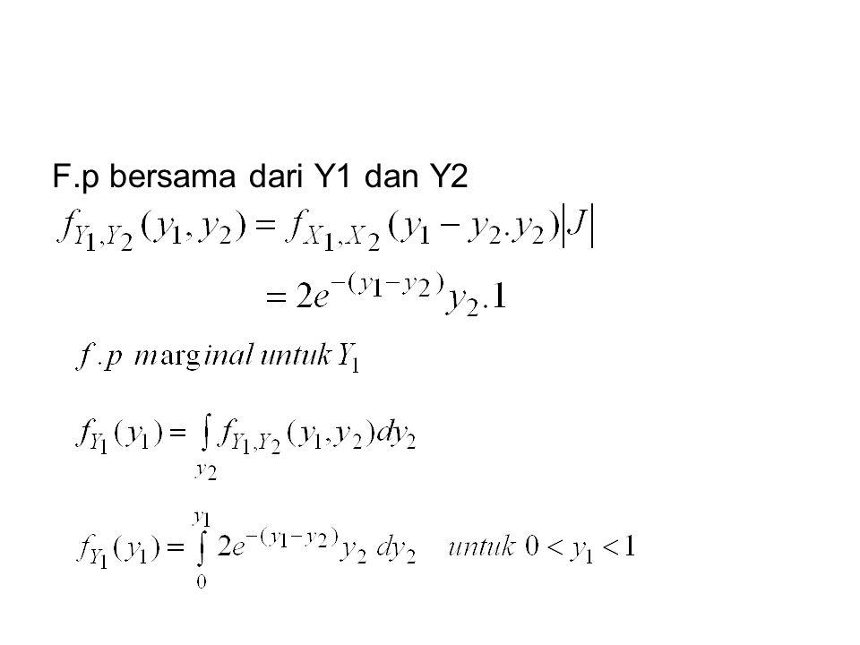 F.p bersama dari Y1 dan Y2
