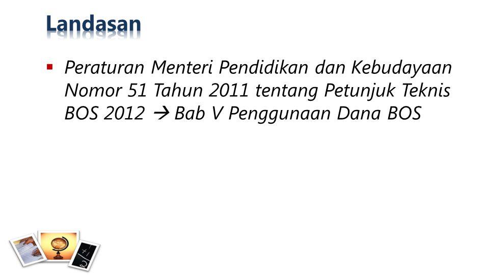  Semua SD dan SMP penerima Dana BOS 2012: 143.252 kepala dan komite SD 29.866 kepala dan komite SMP
