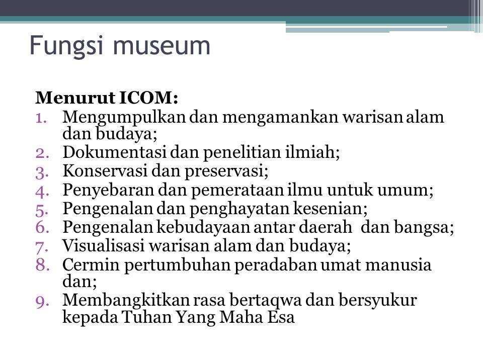 Perkembangan museum di tanah air MERDEKA 1945 Pra KemerdekaanPasca Kemerdekaan Museum didirikan oleh pemerintah kolonial.