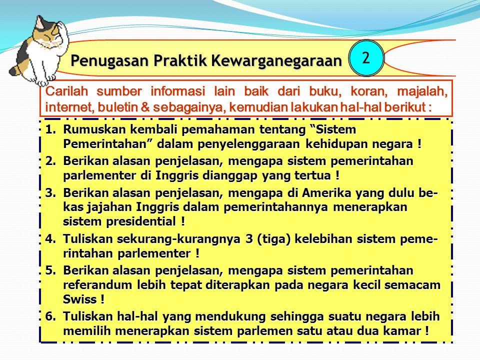 Perbedaan Sistem Pemerintahan Parlenter dan Presidensial Letak perbedaannya adalah ; No Sistim pemerintahan parlementerSistim pemerintahan Presidensia