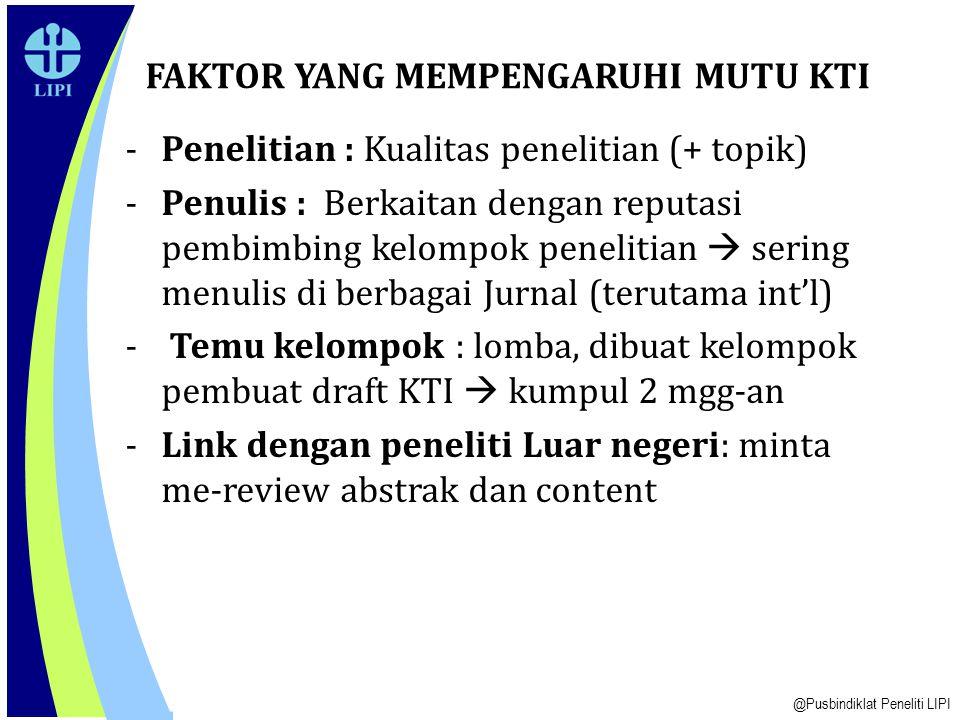 Prof.Dr. Enny Sudarmonowati PUSBINDIKLAT PENELITI-LIPI Jl.