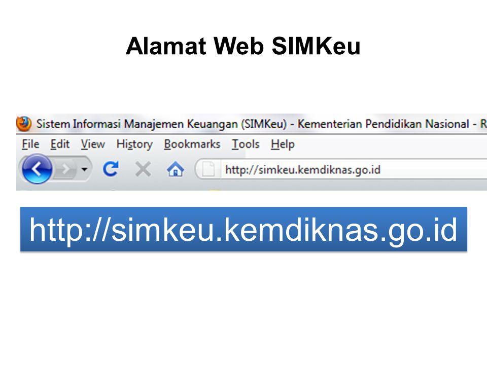 Alamat Web SIMKeu http://simkeu.kemdiknas.go.id http://simkeu.kemdiknas.go.id