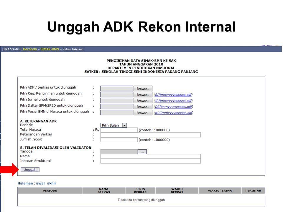 Unggah ADK Rekon Internal