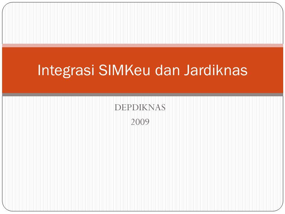 DEPDIKNAS 2009 Integrasi SIMKeu dan Jardiknas