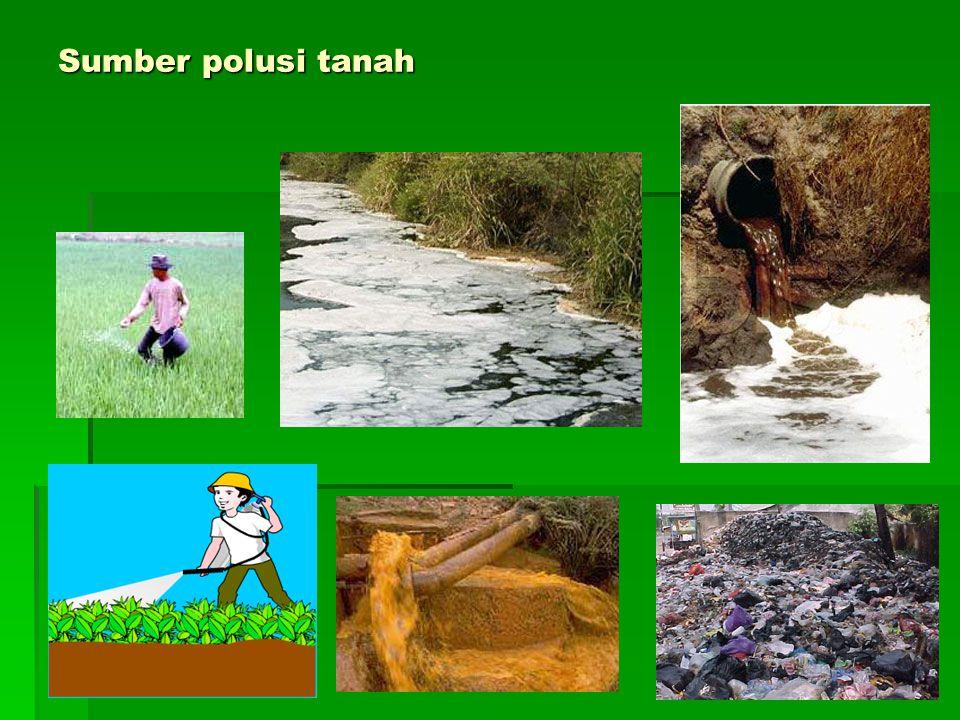 Sumber polusi tanah