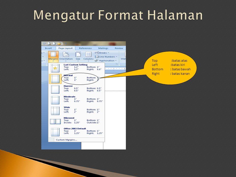  Menggunakan perangkat lunak pengolah kata untuk menyajikan informasi