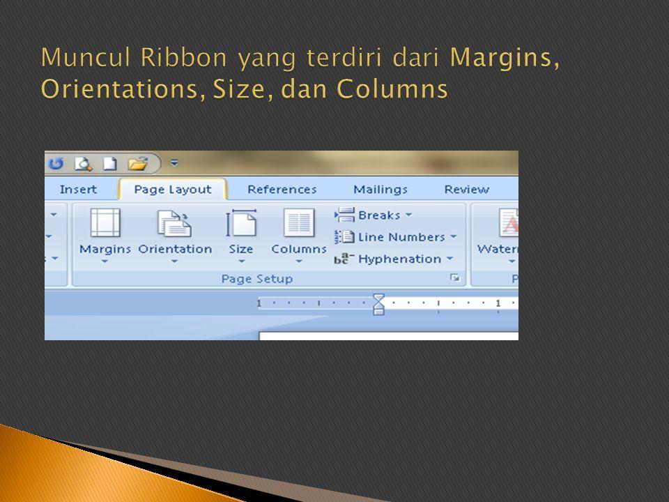 Praktekkan cara mengatur format halaman !