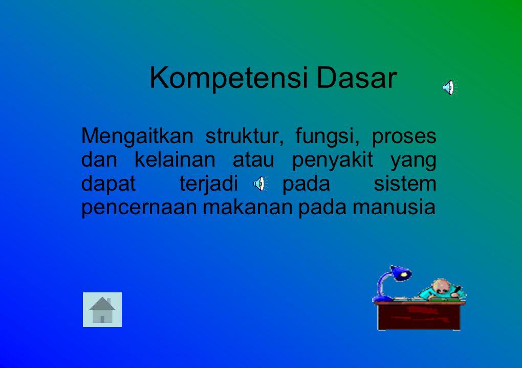 Standar Kompetensi Siswa mampu menganalisis sistem organ pada organisme tertentu serta kelainan atau penyakit yang mungkin terjadi serta implikasinya.
