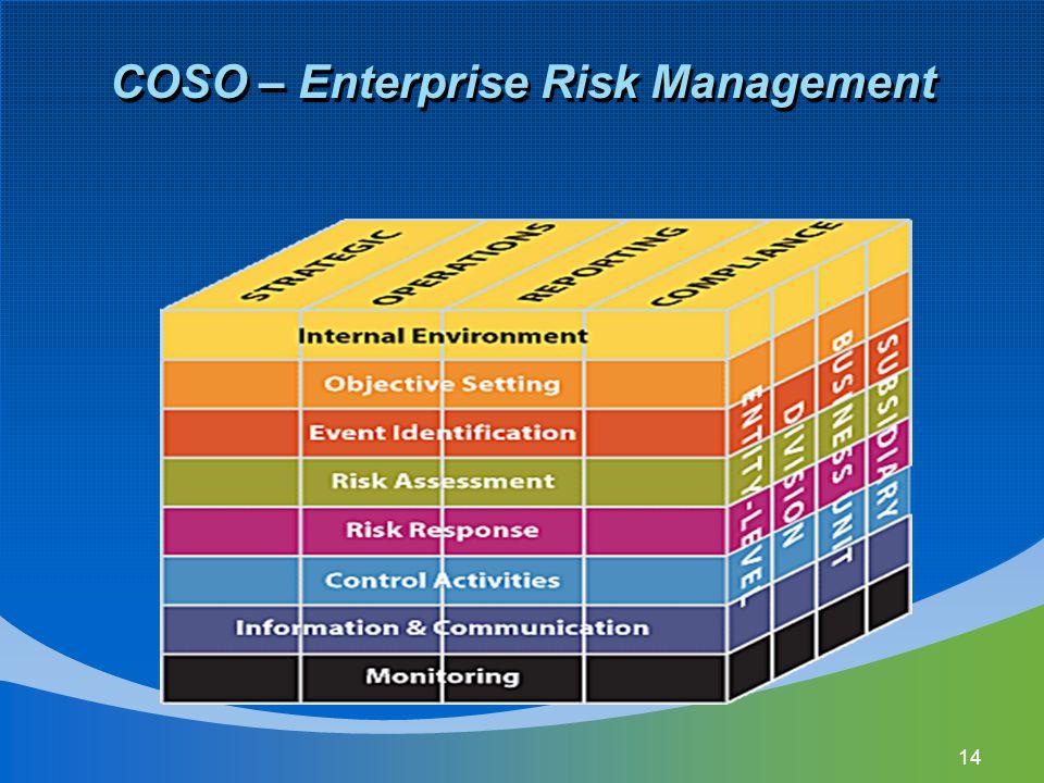 14 COSO – Enterprise Risk Management