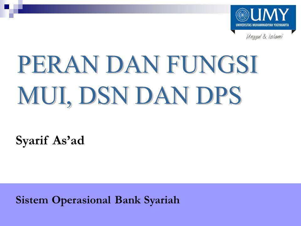 Syarif As'ad Sistem Operasional Bank Syariah